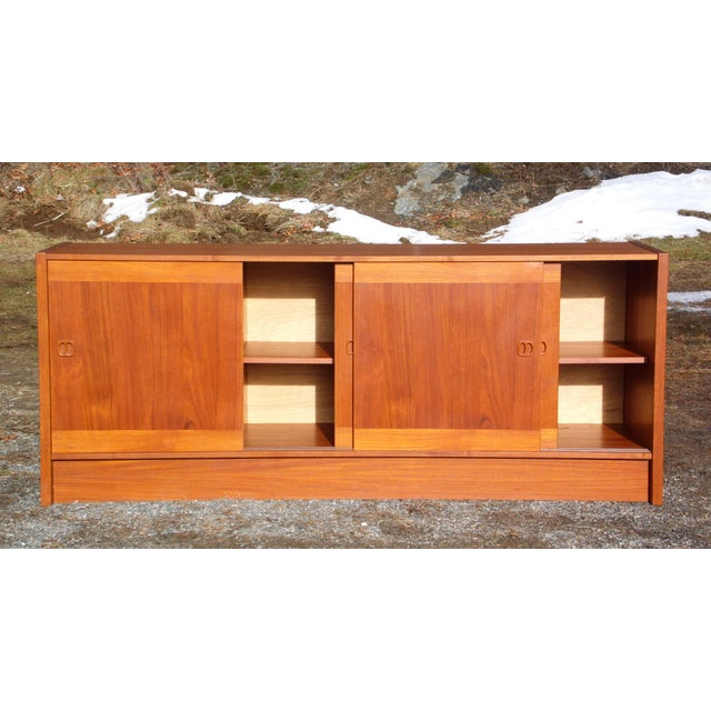 Clausen & Søn Silkeborg Mid-Century Danish Modern Teak Hutch Credenza For Sale In Providence - Image 6 of 10