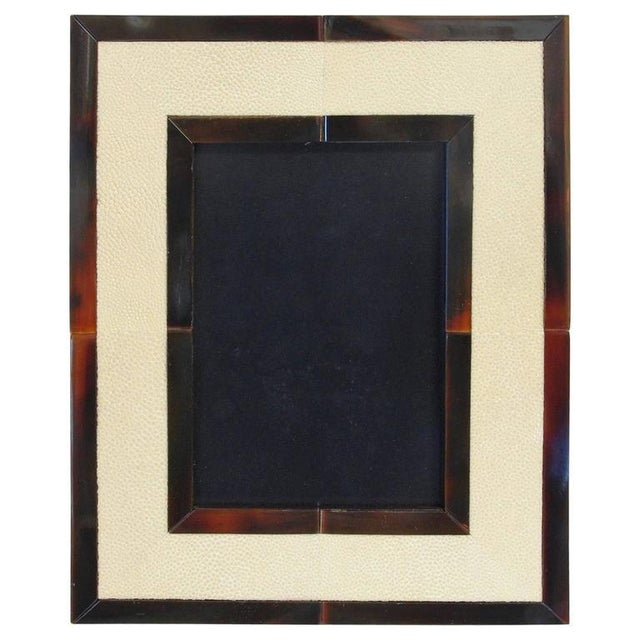 Brown Ivory Shagreen and Brown Horn Photo Frame by Fabio Ltd For Sale - Image 8 of 8