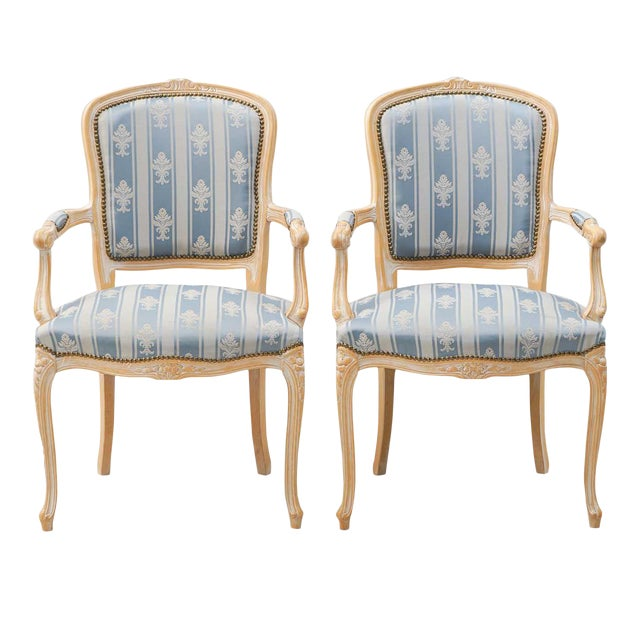 1950s Vintage Rococo Armchairs- A Pair For Sale