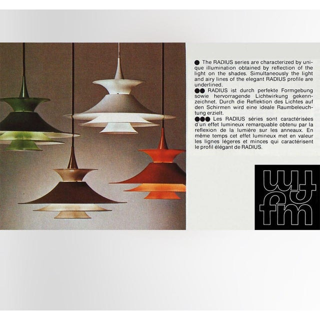 Danish Mid-Century Modern Radius 1 Pendant Lamp by Erik Balslev for Fog & Mørup For Sale - Image 10 of 11
