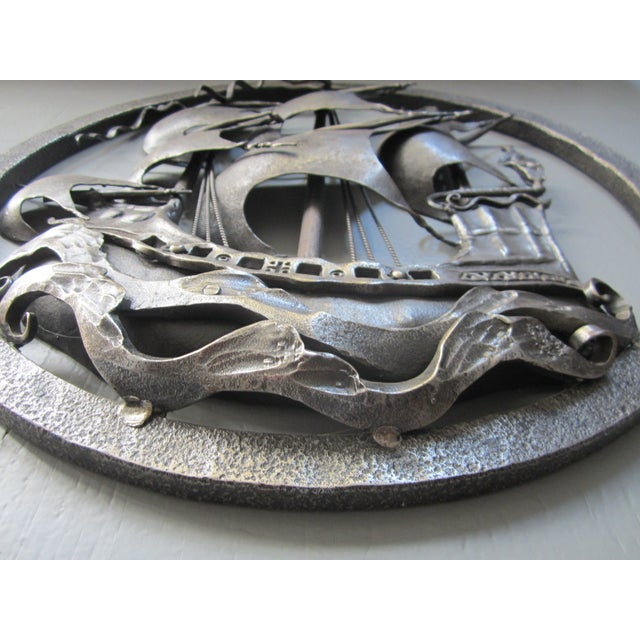 Hand-Forged Wrought Iron Spanish Galleon - Image 5 of 8