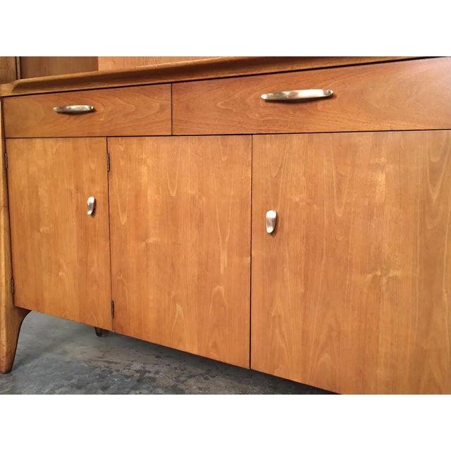John Van Koert for Drexel Profile Mid-Century Walnut China & Display Cabinet - Image 4 of 8
