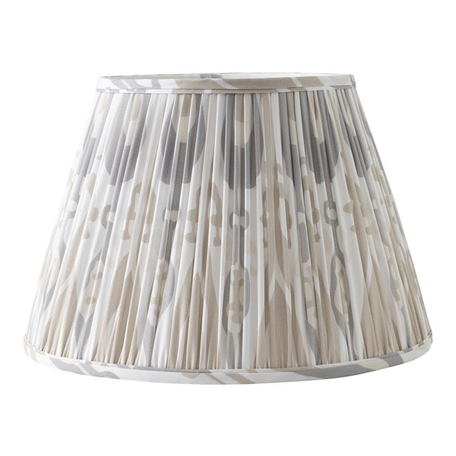 "Petal Ikat in Linen 10"" Lamp Shade, Sand For Sale"