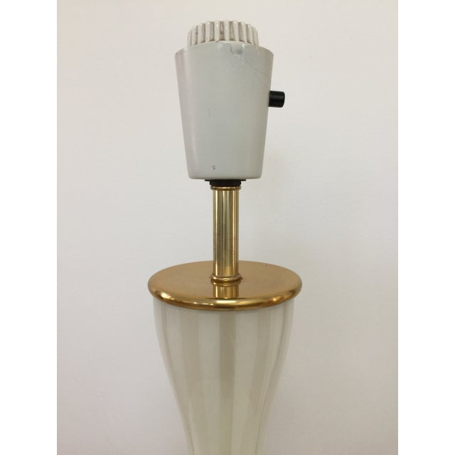 Italian Modern Glass and Brass Table Lamp For Sale - Image 4 of 8