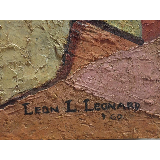 """Cubism """"The Nun"""" Encaustic Painting 1960 by Leon Lank Leonard For Sale - Image 3 of 5"""