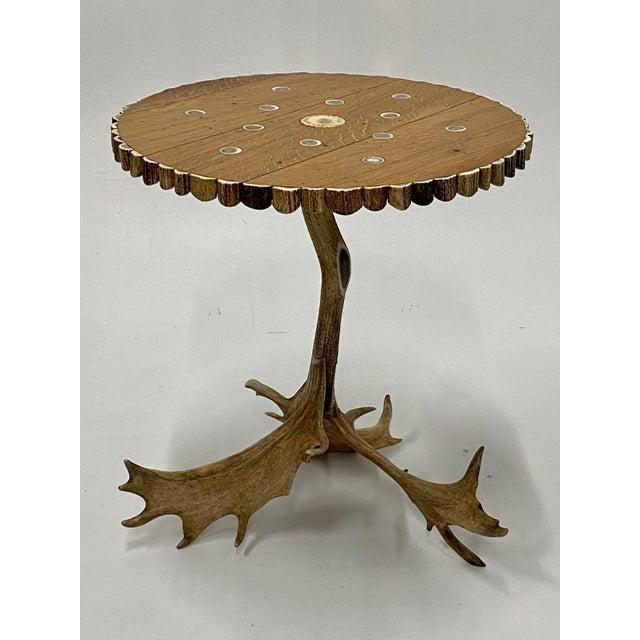 Organic Modern Antler Side Table For Sale - Image 13 of 13