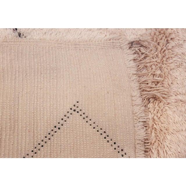 Textile Vintage Room Size Moroccan Ivory Rug - 6′10″ × 13′ For Sale - Image 7 of 8