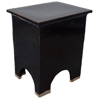 """Artisan Series Stool and Side Table """"Oscuro"""" For Sale"""