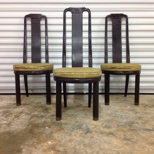 Asian Modern Black Lacquer Chair by Henredon - Image 6 of 9