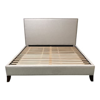 Pottery Barn Fillmore Square Upholstered Bed For Sale