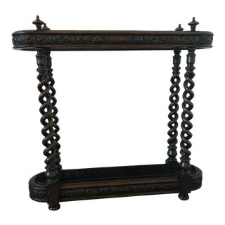 Antique Black Forest Hand-Carved Umbrella And/Or Cane Stand 19th Century Ooak For Sale