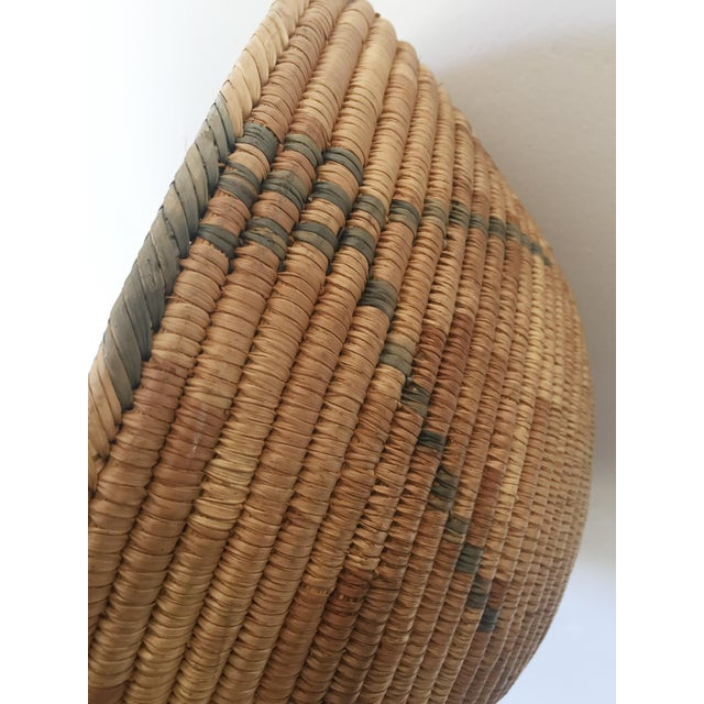 1950s 1950s Southwestern Coiled Indian Basket For Sale - Image 5 of 7