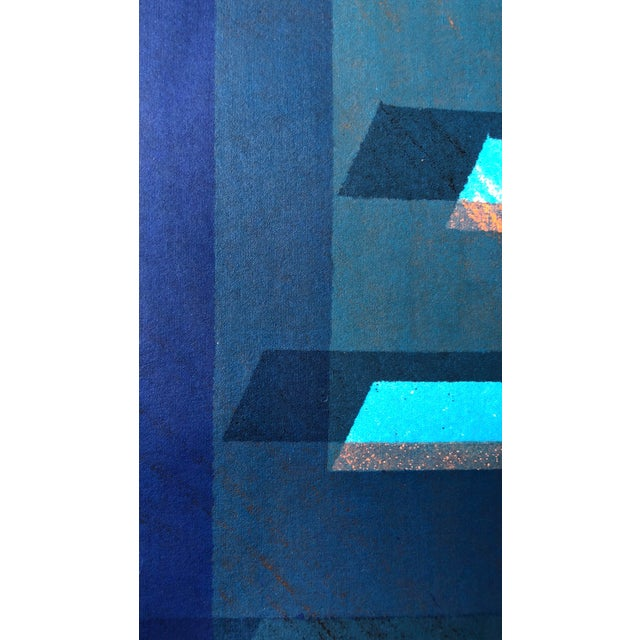 """Paper 1970s Abstract Silkscreen """"Pyramid"""" j.h. Turner For Sale - Image 7 of 9"""