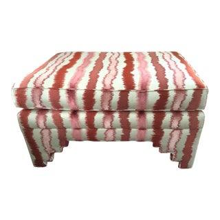 Travers Andalucia Cut Velvet Custom Large Ottoman