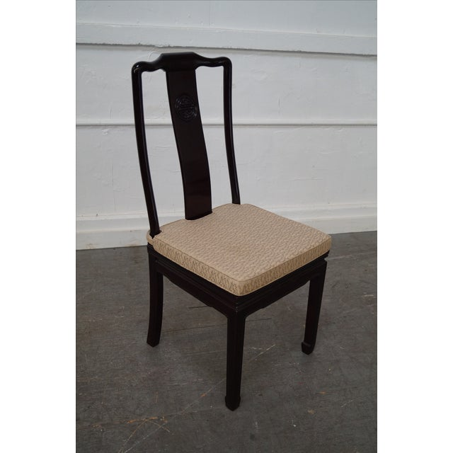 Quality Solid Chinese Rosewood Dining Chairs - 8 - Image 2 of 10