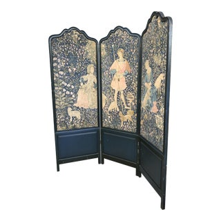 Tall Antique Belgium Linen Room Divider Exquisite For Sale