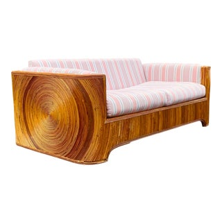 Circular Pencil Reed Sofa For Sale