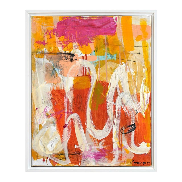 "Lesley Grainger Lesley Grainger ""Lazy Days"" Original Abstract Painting For Sale - Image 4 of 4"