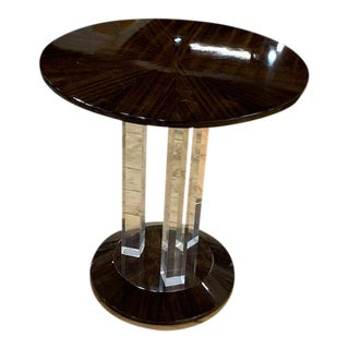 Contemporary Interlude Karra Side Table For Sale