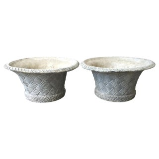 20th Century English Lead Planters - A Pair For Sale