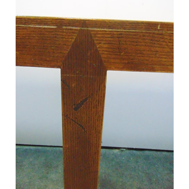 Wood Beacon Hill Mid-Century Oak Parsons Console Table For Sale - Image 7 of 8