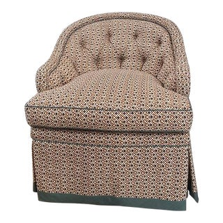 Tufted Chair in Klc Bundi Fabric Chair For Sale