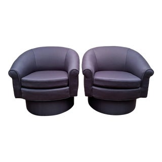 Adrian Pearsall-Style Swivel Lounge Chairs, a Pair For Sale