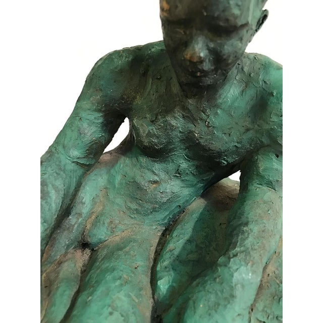 Clay Sculpture of a Seated / Reclining Nude Male, 1937 For Sale In Atlanta - Image 6 of 10
