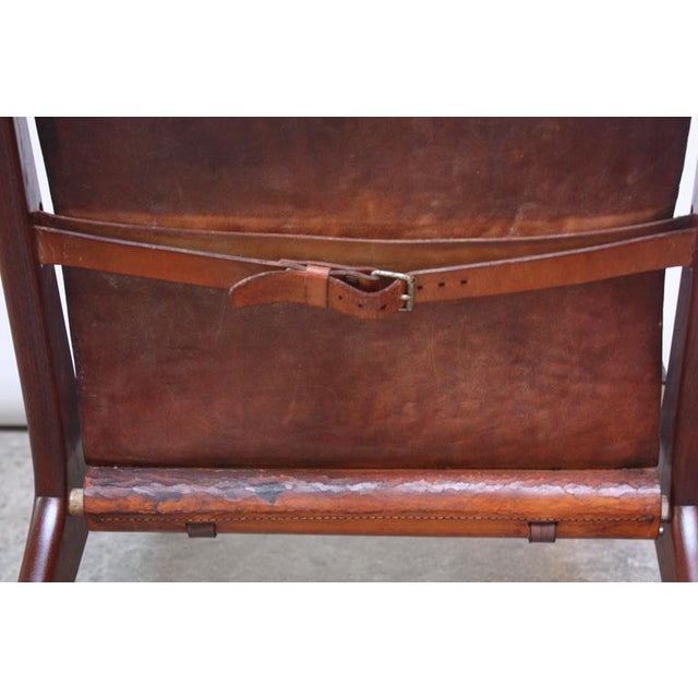 Swedish Teak and Leather Hunting Chair Model #204 by Uno and Östen Kristiansson - Image 10 of 11