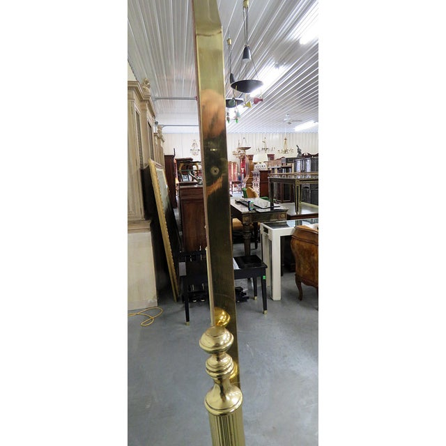 Gold Hollywood Regency Style Cheval Mirror For Sale - Image 8 of 9