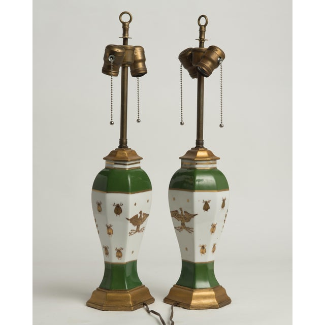 Early 20th Century Late 19th Century French Napoleonic Lamps Style of Sèvres - a Pair For Sale - Image 5 of 12