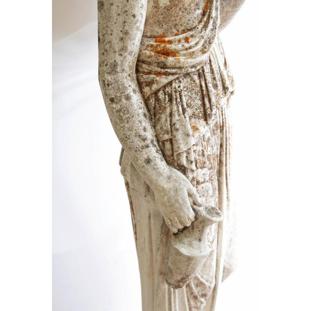 19th Century French Hand Carved Stone Female Statue For Sale - Image 11 of 13
