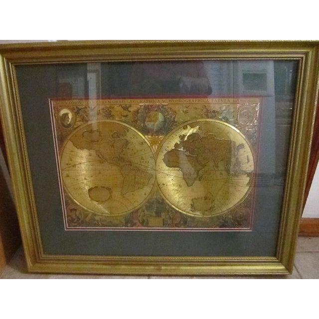 Framed gold foil green matted renaissance world map chairish framed gold foil green matted renaissance world map image 8 of 11 gumiabroncs Images