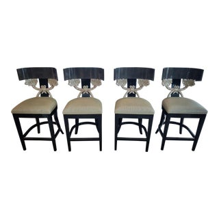 Contemporary J Robert Scott Cornucopia Barstools - Set of 4 For Sale