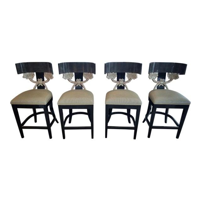 Contemporary J Robert Scott Cornucopia Barstools - Set of 4 For Sale