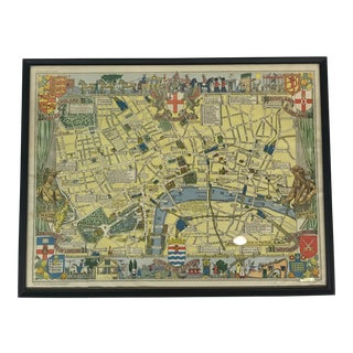 Framed Mid-Century London Map