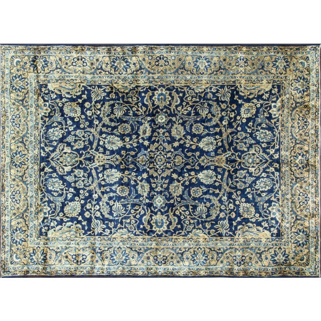 Fine traditional, circa 1920 Persian Laver Kerman. Wool pile with vegetable dye. Laver Kerman made in south east Persia,...