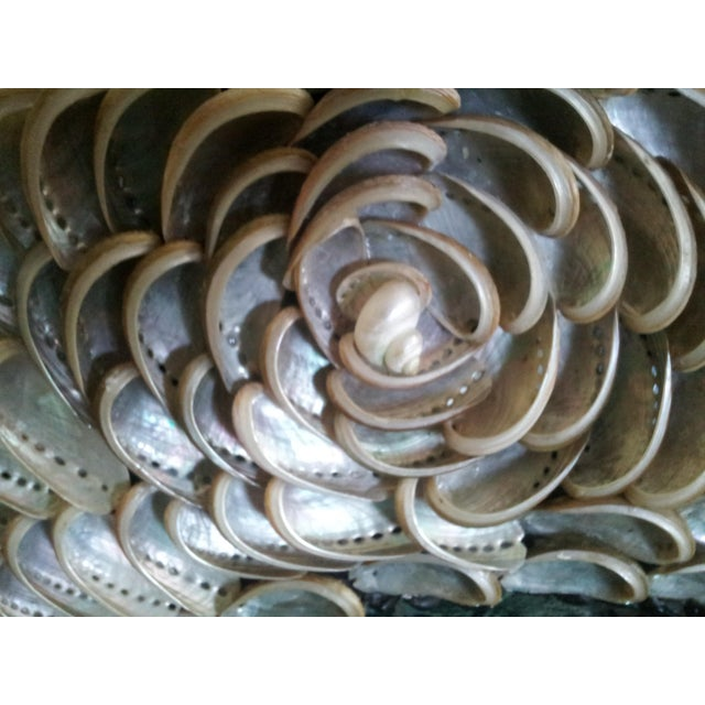 Gray Abalones Shell Mirror With Antique Glass For Sale - Image 8 of 12