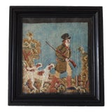 Image of Georgian Needlepoint Hunting Scene For Sale