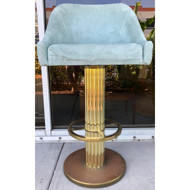 Design For Leisure Design For Leisure Brass Bar Stools - Set of 5 For Sale - Image 4 of 9