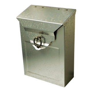 Patina'd Metal Letter Box With Hinged Lid