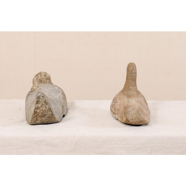 Pair of 19th Century French Carved Stone Ducks For Sale In Atlanta - Image 6 of 12