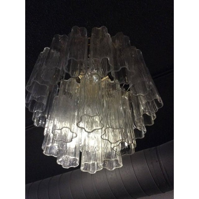 Hollywood Regency Vintage Murano Glass Chandelier Tronchi For Sale - Image 3 of 12