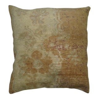 Apricot Distressed Turkish Rug Pillow For Sale