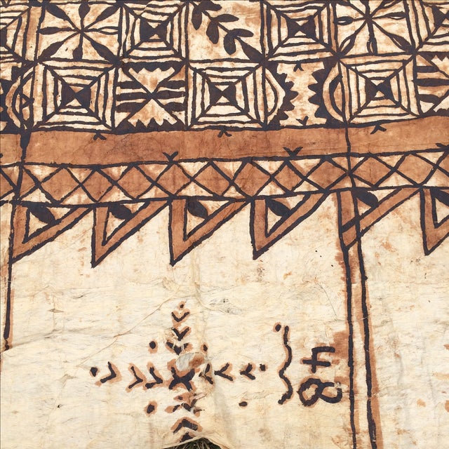 Tapa Cloth Wall Hanging For Sale - Image 9 of 10