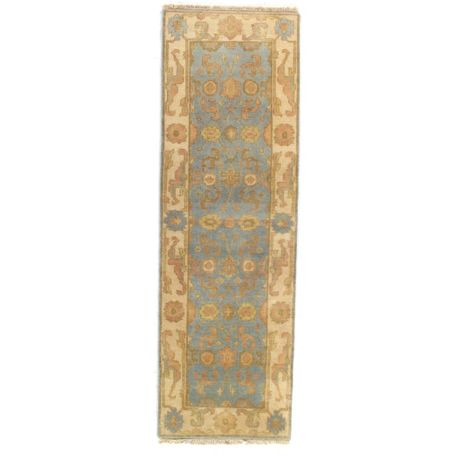 """Pasargad NY Original Oushak Design Hand-Knotted Rug - 2'8"""" x 8'1"""" For Sale - Image 4 of 4"""