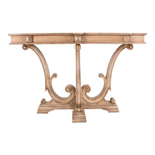 Solid Wood Rustic Sand Farmhouse Console For Sale