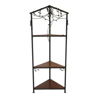 Contemporary Hand Forged Wrought Iron Corner Shelf