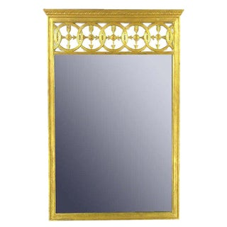 Large Italian Empire Gilt Mirror For Sale