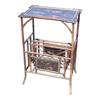 19th Century Victorian Tiered Magazine Rack Table For Sale